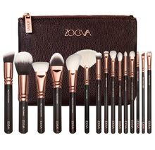 Pre-sell!! COMPLETE MAKEUP BRUSH SET Professional Luxury Set Make Up Tools Kit ZOEVA 15 PCS ROSE  GOLDEN Powder Blending brushes(China (Mainland))