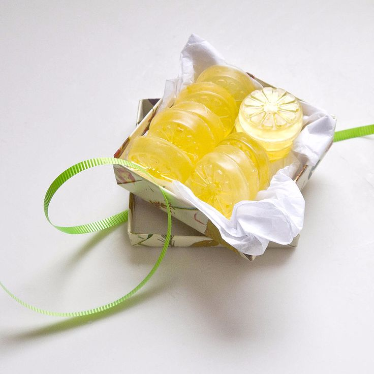 Instead of tossing lemon rinds, use for making supercute lemon soaps. Usually tossed in the trash, lemon zest brightens basic glycerin soap for an invigorating cleaner that also leaves hands nice and soft.