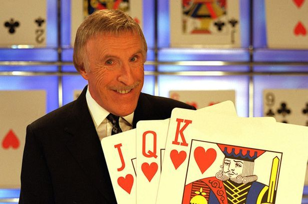 Higher or lower: Brucie was in charge of the cards on Play Your Cards Right