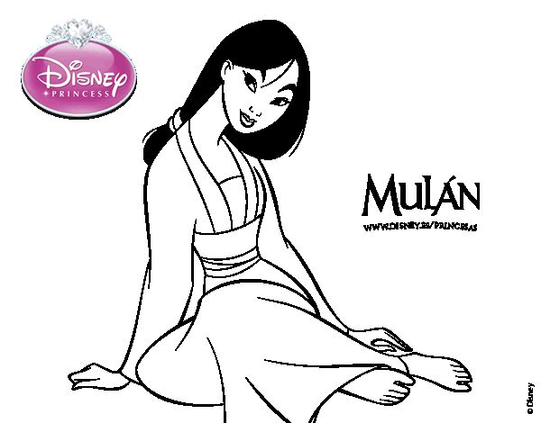 Dibujo de Mulan para colorear  Dibujos de Princesas ...