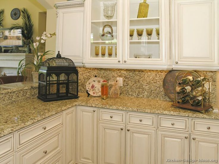Antique White Kitchen Cabinets | ... of Kitchens - Traditional - Off-White  Antique Kitchens (Kitchen #6 | Struve Remodeling Ideas | Pinterest |  Skrinky, ... - Antique White Kitchen Cabinets Of Kitchens - Traditional - Off