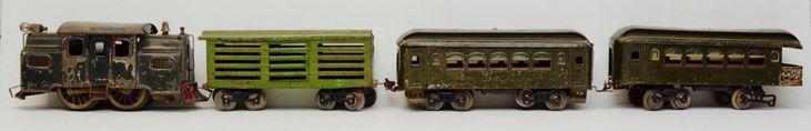 #Antique #Lionel Prewar Standard Gauge No 38 Locomotive 2 Passenger 1 Freight Car Set #ModelTrain