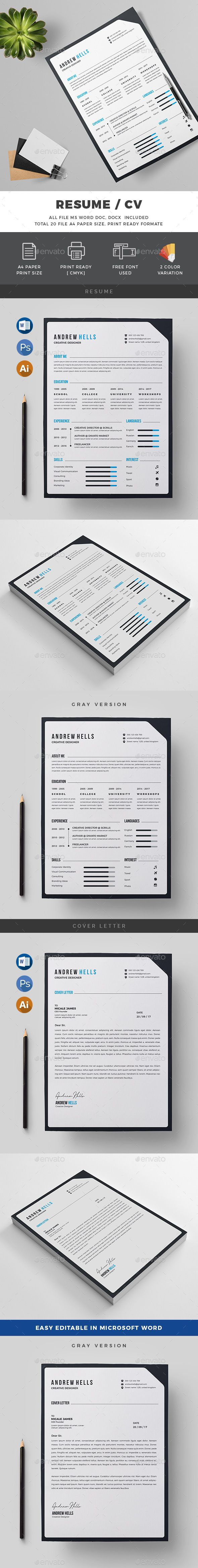 Resume 18 best resume designs images on