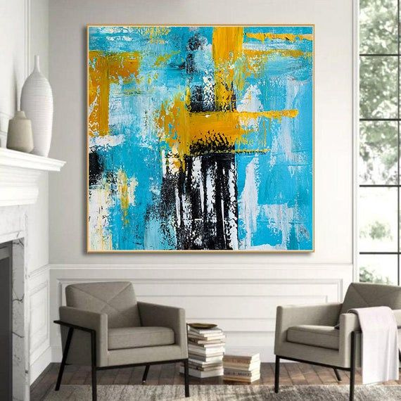 Oversize Original Handmade Abstract Painting Acrylic Art On Canvas For Room Decor Large Wall Art