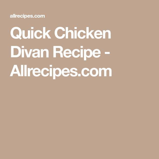 Quick Chicken Divan Recipe - Allrecipes.com