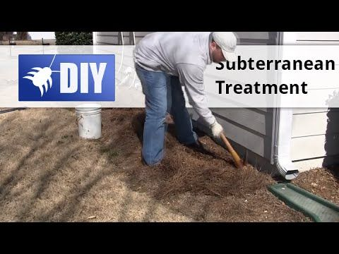 This video will show you how to do your own subterranean termite trenching treatment around your home. This treatment can protect your home from subterranean termites for up to 10 years. For a guide to eradicating termites yourself, go to https://www.pinterest.com/pin/237635317814322816/ For more information about termite treatments, visit http://www.domyownpestcontrol.com/subterranean-termite-treatment-guide-a-478.html