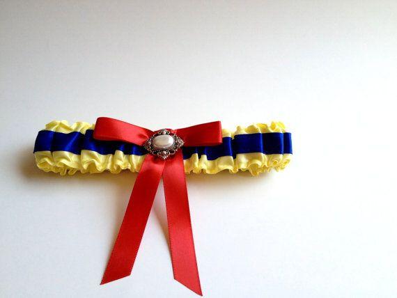 Snow White Inspired Wedding Garter by LouiseStella on Etsy, $35.00
