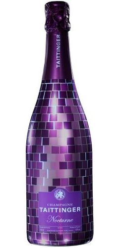 PURPLE TAITTINGER CHAMPAGNE BOTTLE