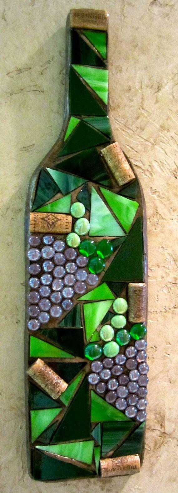 Hangings de la pared de mosaico botella de vino                                                                                                                                                      Más