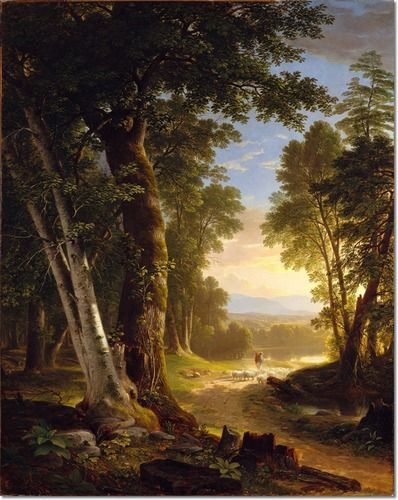 Asher Brown Durand - The Beeches 1845 Painting