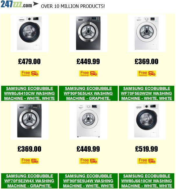 Samsung ecobubble - Save Money On Selected Washers?