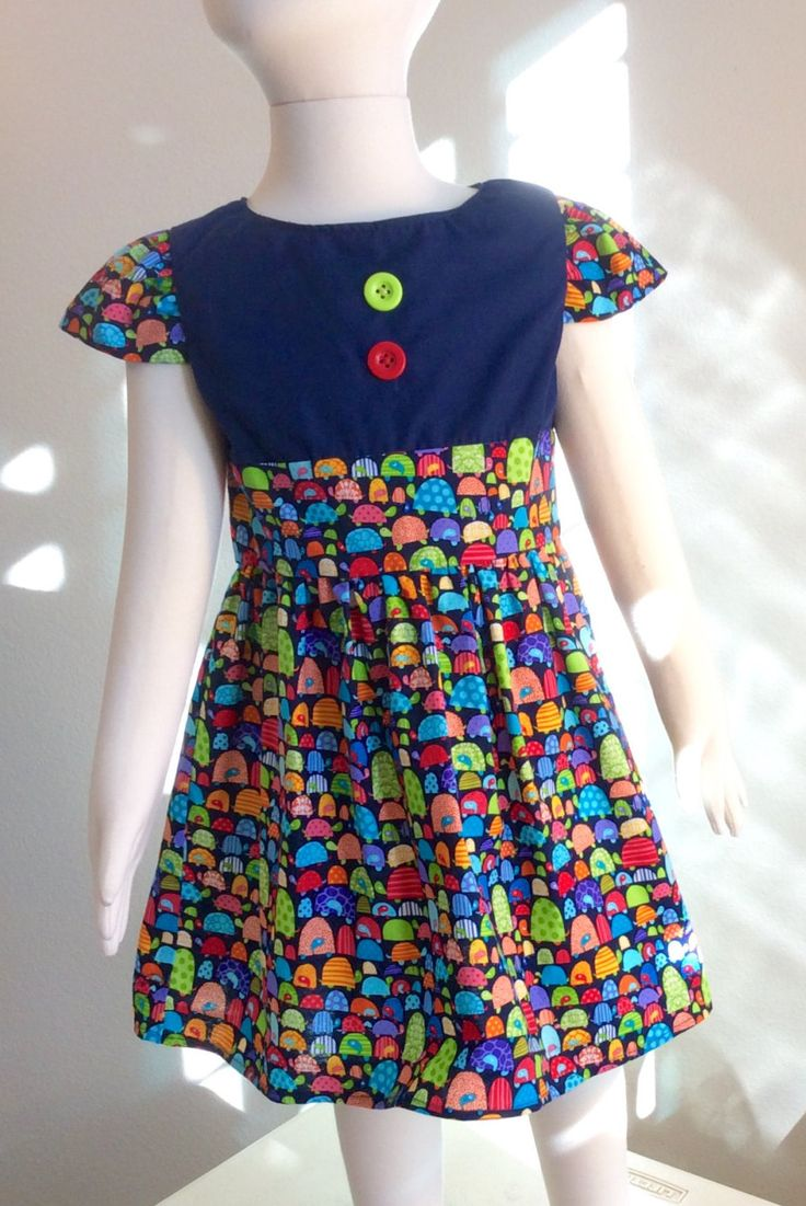 Blue christmas dress 4t - Girls Toddlers Dress Cotton Dress Animal Print Dress Cap Sleeves Blue Red Yellow Buttons Turtles Dress L 2t 3t 4t 5t
