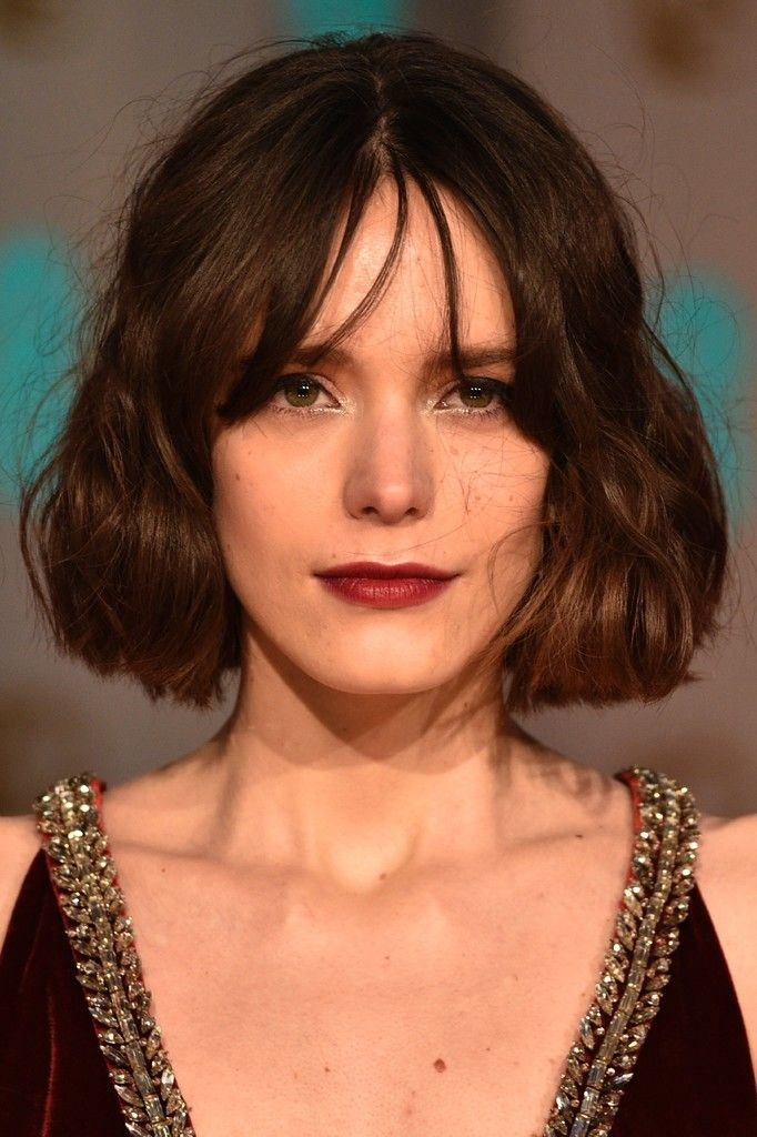 Stacy Martin poses on arrival for the BAFTA British Academy Film Awards at the Royal Opera House in London on February 14, 2016.