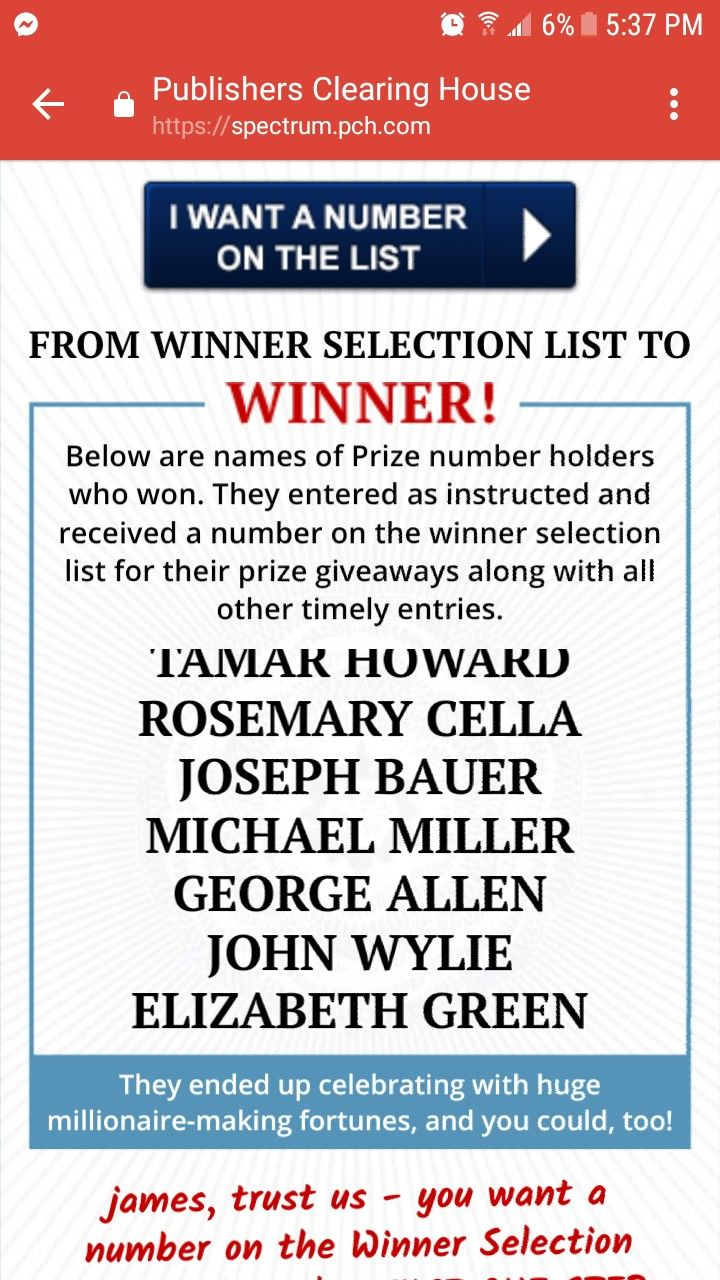 I Rosa Rojas want to be on the PCH WINNER SELECTION LIST!!! | Umm