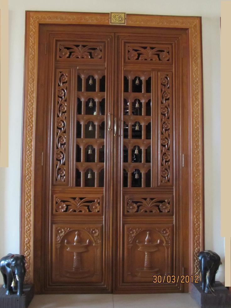 pooja room design home mandir lamps doors vastu idols placement - Doors Design For Home