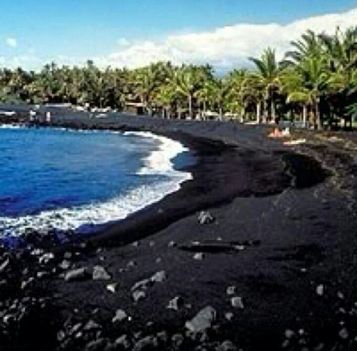 Kaui, Hawaii - Black Sand My favorite island to get a quire weekend away