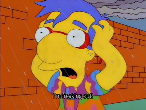 Milhouse: I'm freaking out!