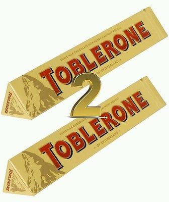 2 X 360g TOBLERONE CHOCOLATE   EXTRA LARGE BARS (FRESH) GIFT IDEA FREE P&P