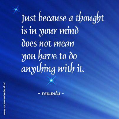 thought; rananda