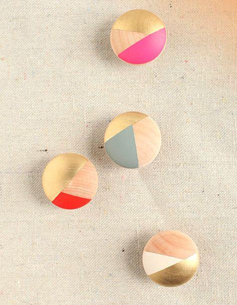 diy knobs + geometric color