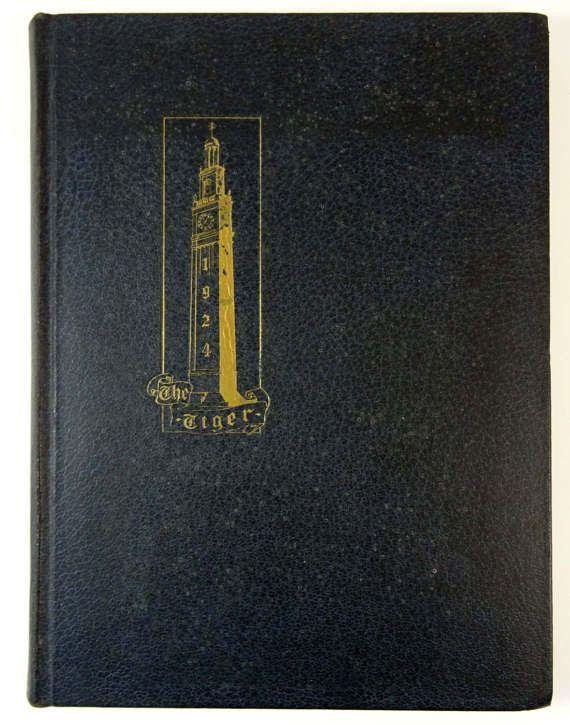 Vintage 1924 Yearbook THE TIGER East High School Cincinnati Ohio | #adoredblessings