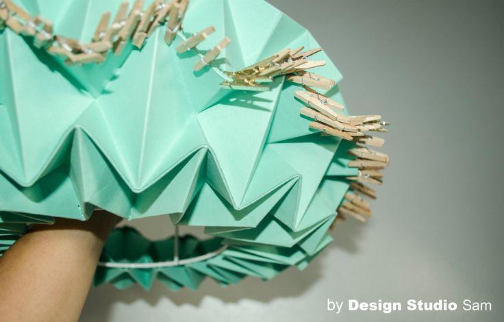 Origami I Lichtobject Mint-Groen I www.designstudiosam.nl