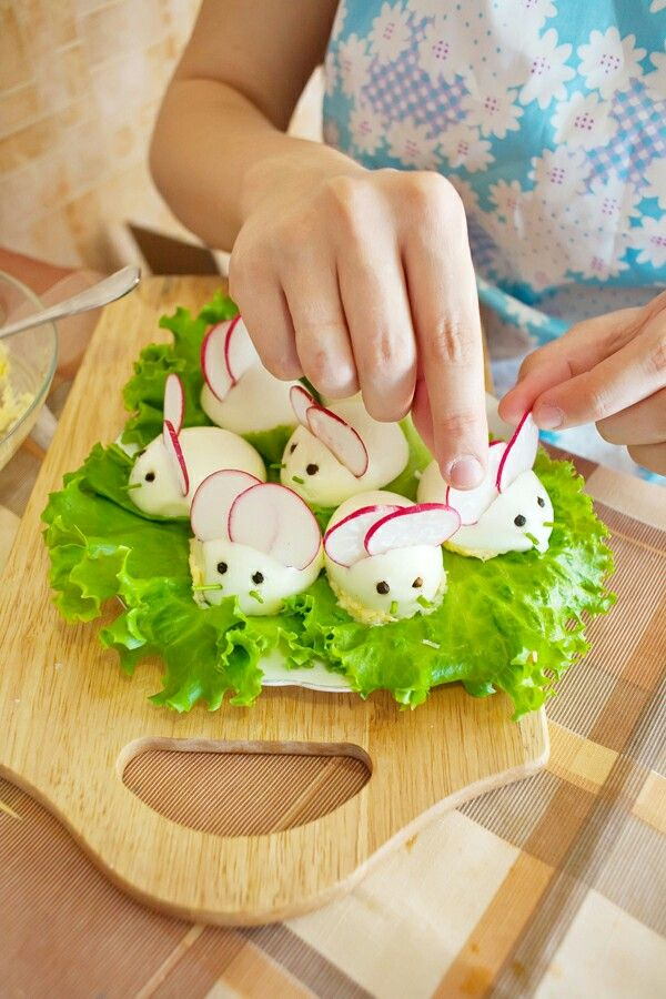Easter Bunny Deviled Eggs Recipe !