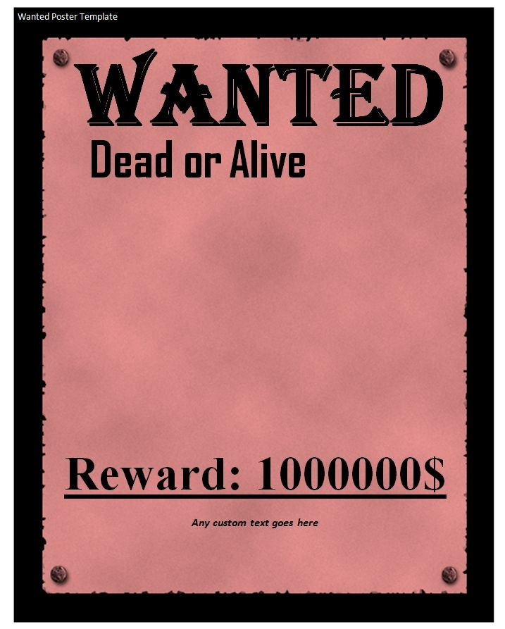 Wanted Poster Sample Business Template How To Find Out Poster Template