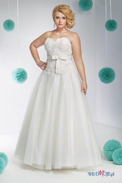 suknia ślubna Annais Bridal z kokardką #polkipl