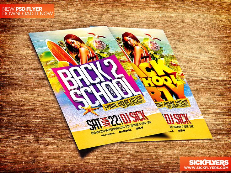 Back to School Flyer Template PSD by Industrykidz