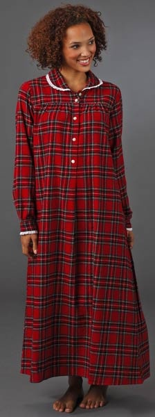 red plaid flannel night gowns loved u0027em in the u002750s and u002760s - Flannel Nightgowns