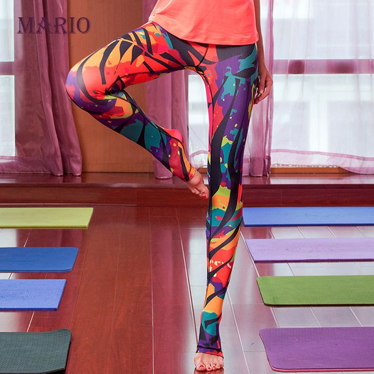 2015 новый высокое качество итальянский печать лист женская одежда йога йога брюки узкие спортивные брюки центр фитнес шаг ноги брюки купить на AliExpress