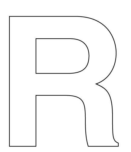 Best 25 block letter r ideas on pinterest rustic gifts for Large cardboard cut out numbers