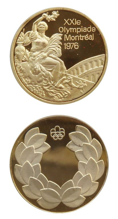 The Montreal Olympic games gold medal 1976
