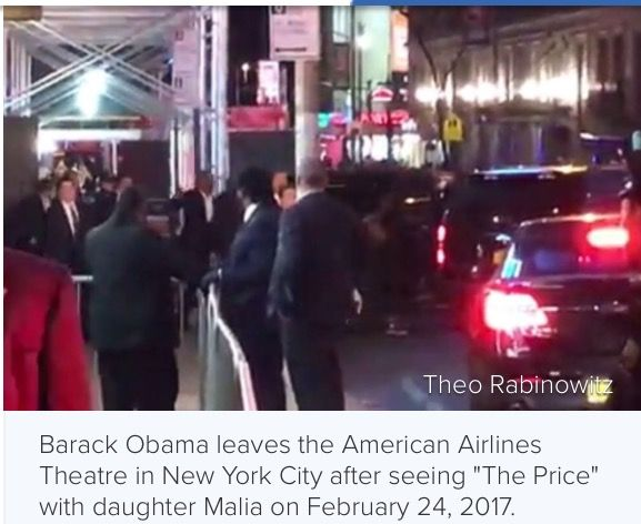 Friday evening February 24th #44th #President #BarackObama & his #daughter #Malia Obama Attended a Broadway Show #Price afterward they took pictures with some of the #CastMembers #BroadwayShow #Theater #Manhattan #NewYorkCity TheObamas #BarackObama #NYC #MichelleObama #ObamaDaughters