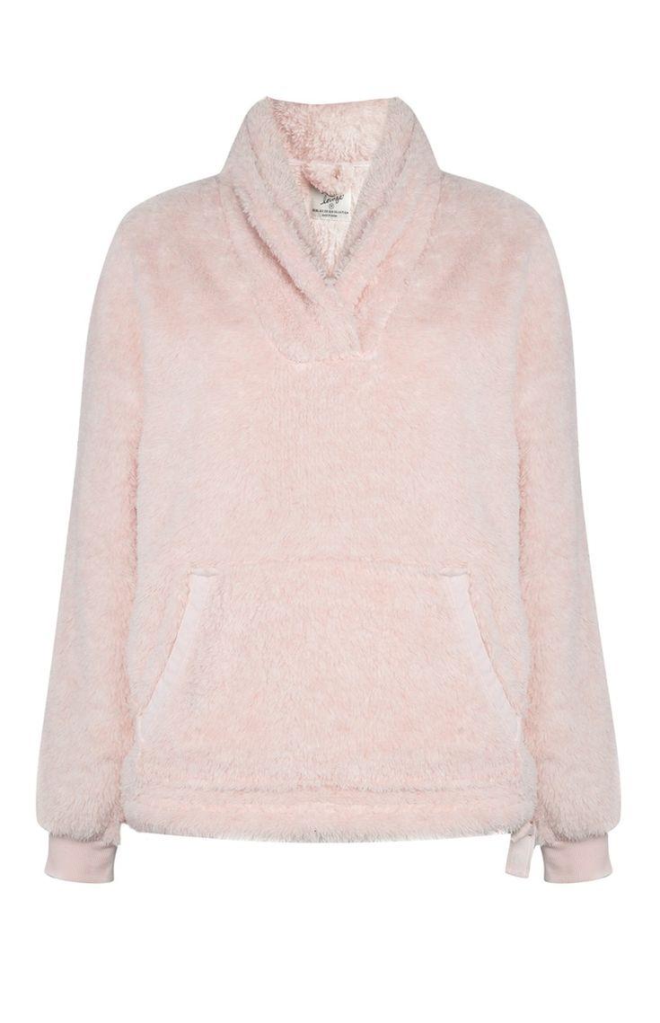 Primark - Camiseta de pijama polar rosa