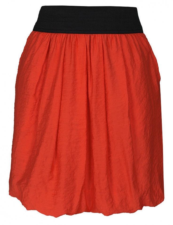 Fusta cu banda elastica in talie - Orange TSD0342PO  Brand: T!nar