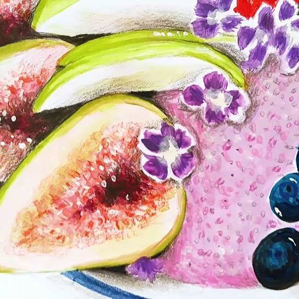 Did you see my new fruity watercolor painting yet?