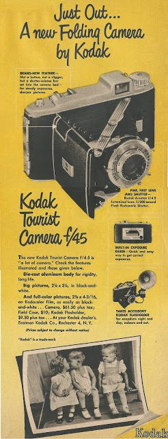 Just out... a new folding camera by Kodak. Brand new feature - not a button, not a trigger but a shutter release bar set into the camera b...
