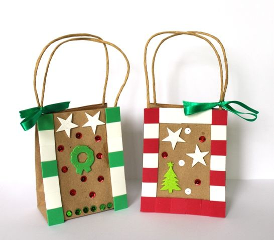 Great way to give out cookies and other sweet treats this holiday season! Use Shamrock Craft's paper bags and decorate them to make them more festive this season.