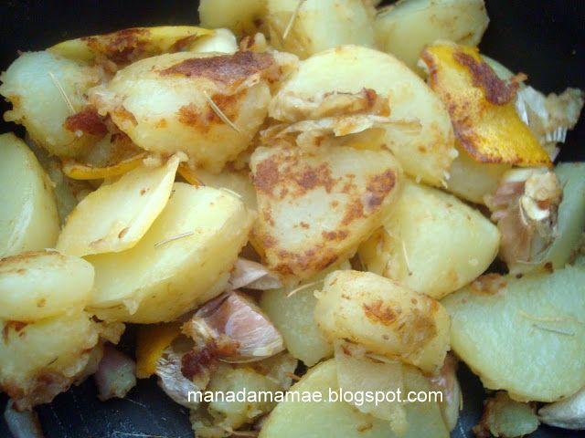 Maná da Mamãe: Batata sautée ao alho e alecrim do Jamie Oliver