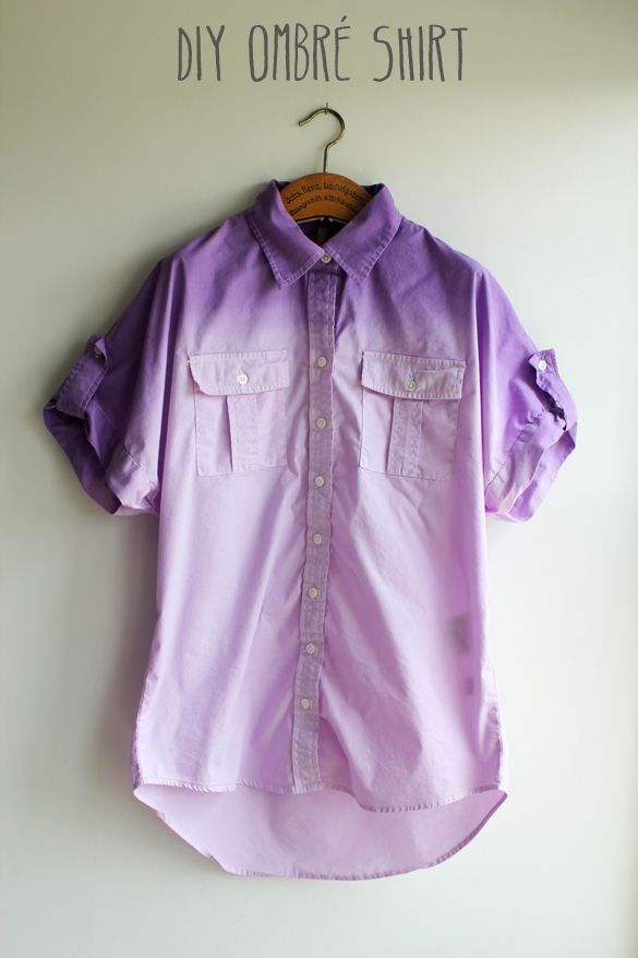 The Forge: diy: ombre dip dye shirt- my daughter and I are always looking for different and interesting things to do.