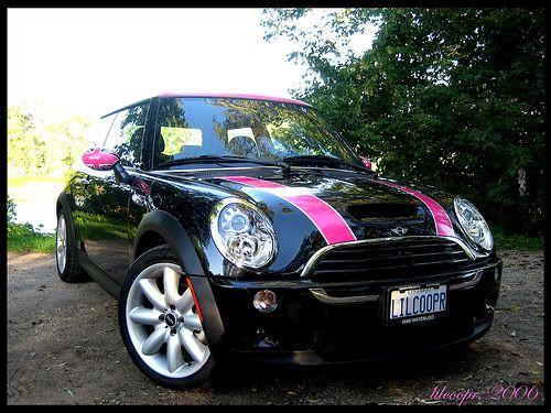 mini cooper black and pink