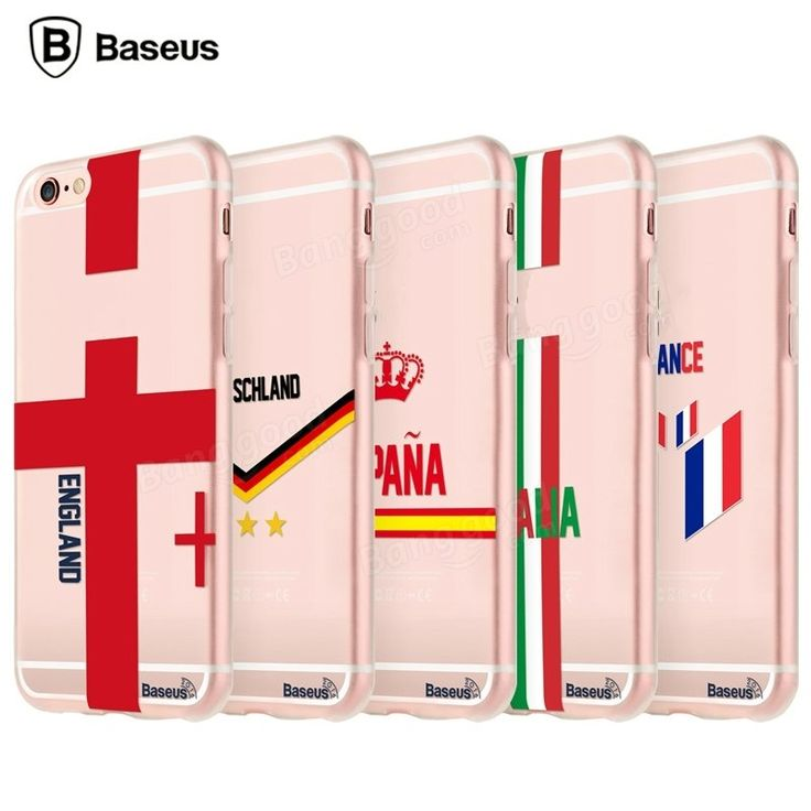 BASEUS Flag European Cup Fans Series TPU Cover Case For iPhone 6 6S Plus…