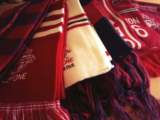 Seven years and seven scarves. TFC Season Ticket Holder since day one. Waiting for number eight.