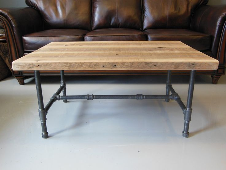 Reclaimed Wood Coffee Table, Rustic Coffee Tables, Pipe Table, Industrial  Pipe, Wood Working, Pipes, Family Room