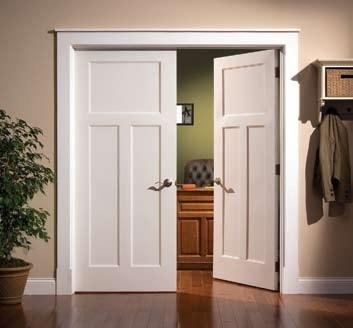 3-panel Craftsman style door & 10 best Door Trim images on Pinterest   Moldings Interior door ...