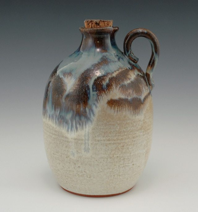 WINE JUGS TRADITIONAL MOONSHINE CROCK HANDCRAFTED STONEWARE HANDMADE CERAMICS by GAULEY RIVER POTTERY WV