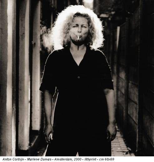 Anton Corbijn - Marlene Dumas - Amsterdam, 2000 - lithprint - cm 68x69