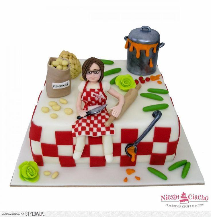 Kuchnia, kucharka, pani domu, gospodyni, gotowanie, szefowa kuchni, tort dla kucharki, tort dla szefa kuchni, śmieszne torty, Tarnów